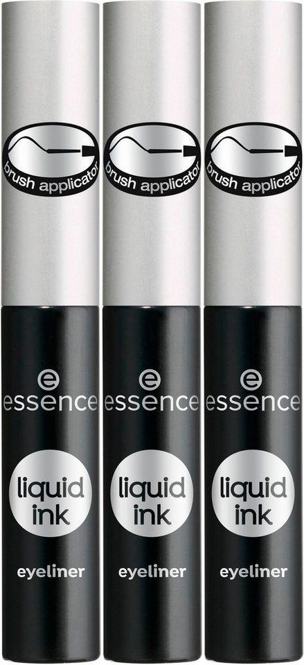 Essence Eyeliner »liquid ink eyeliner«, 3-tlg.