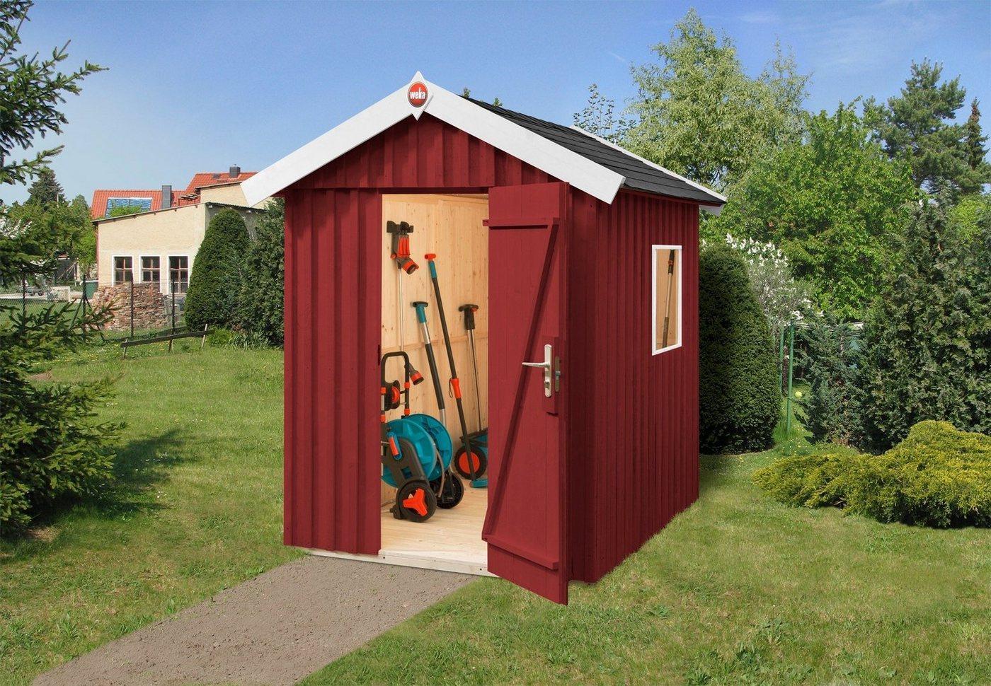 weka Gartenhaus »Schwedenhaus Gr.2«, BxT: 200x286 cm, rot