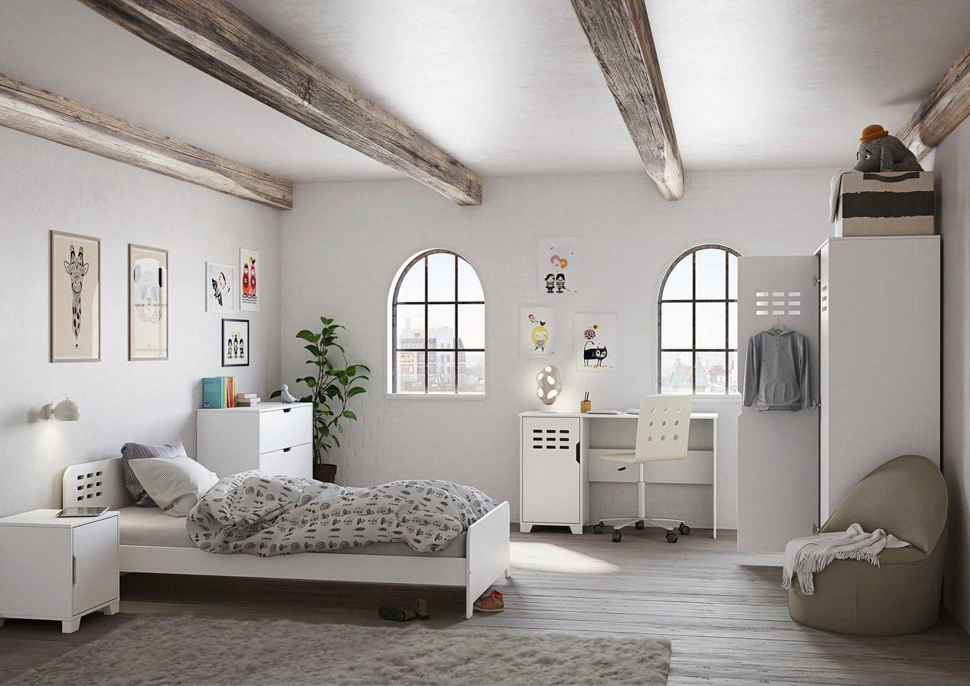 STEENS Drehtürenschrank »Loke« Kleiderschrank für das Jugendzimmer, weiß