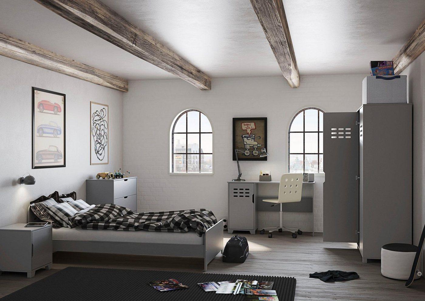 STEENS Drehtürenschrank »Loke« Kleiderschrank für das Jugendzimmer, grau