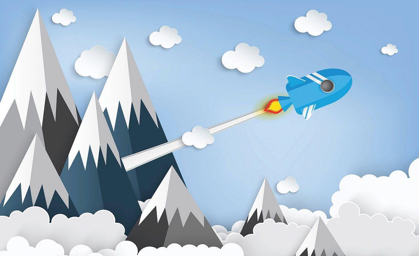 Consalnet Papiertapete »Kindermotiv Berge«, Comic