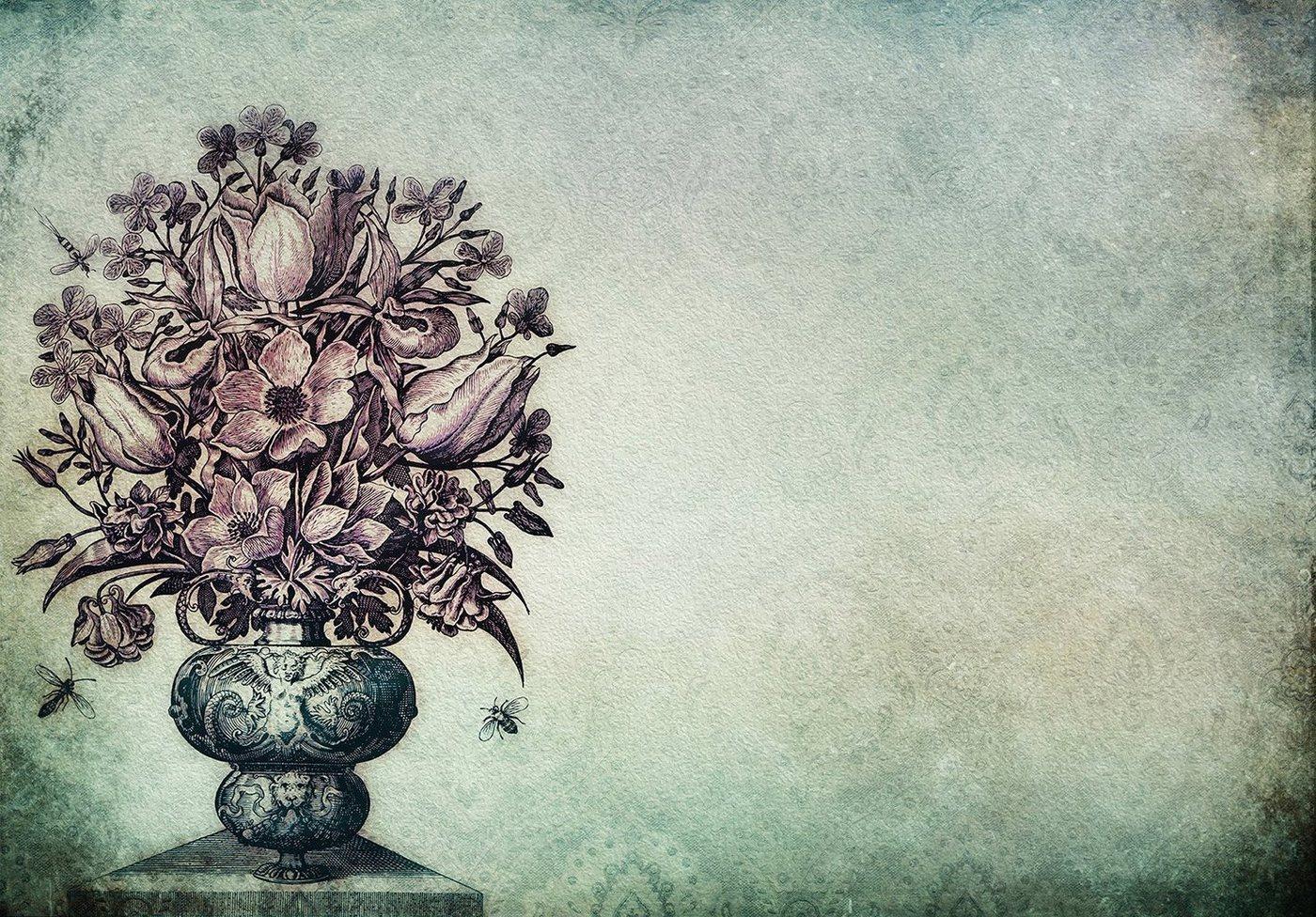 Consalnet Papiertapete »Blumenstrauß in Vase«, floral
