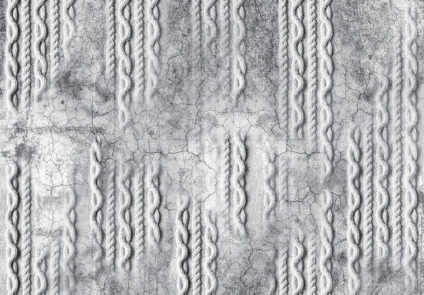 Consalnet Papiertapete »Geflecht auf Beton/Grau«, Flechtoptik