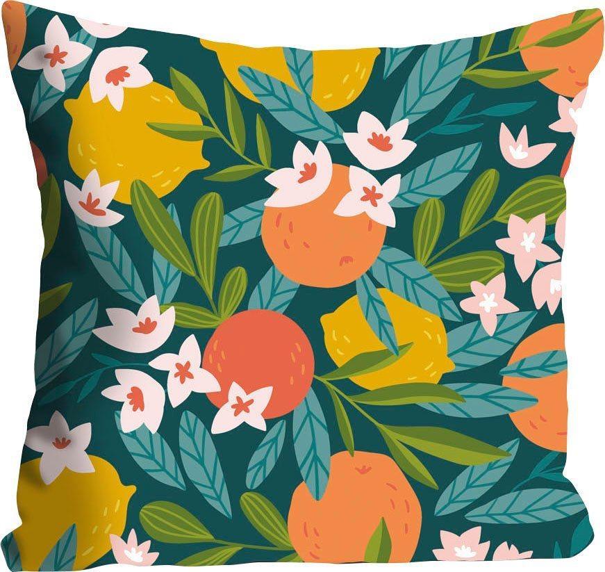 Kissenhülle »Adina«, queence (1 Stück), mit Orangen und Zitronen