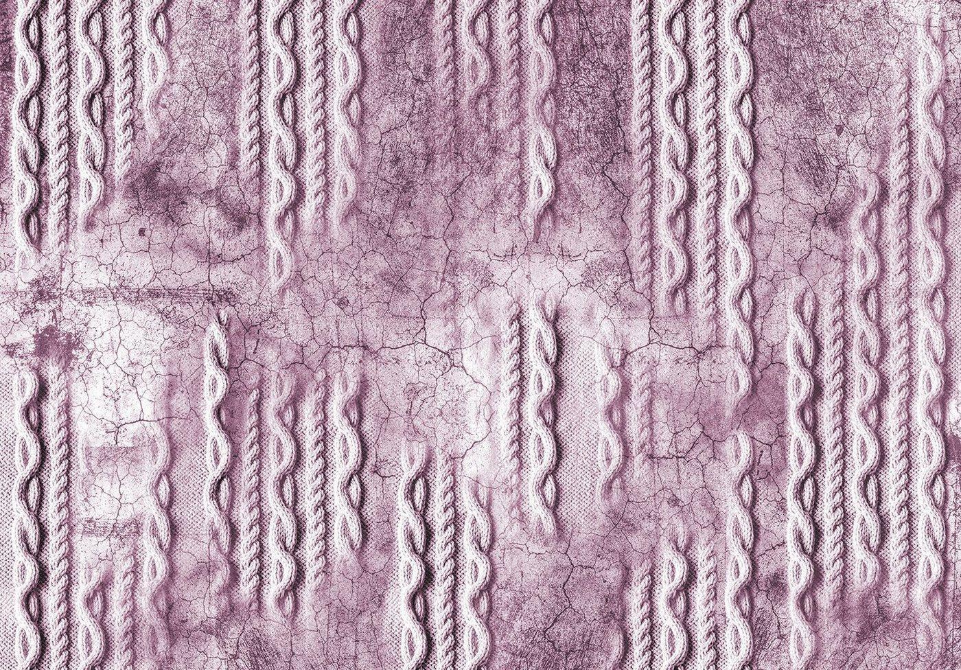 Consalnet Papiertapete »Geflecht auf Beton/Rosa«, Flechtoptik