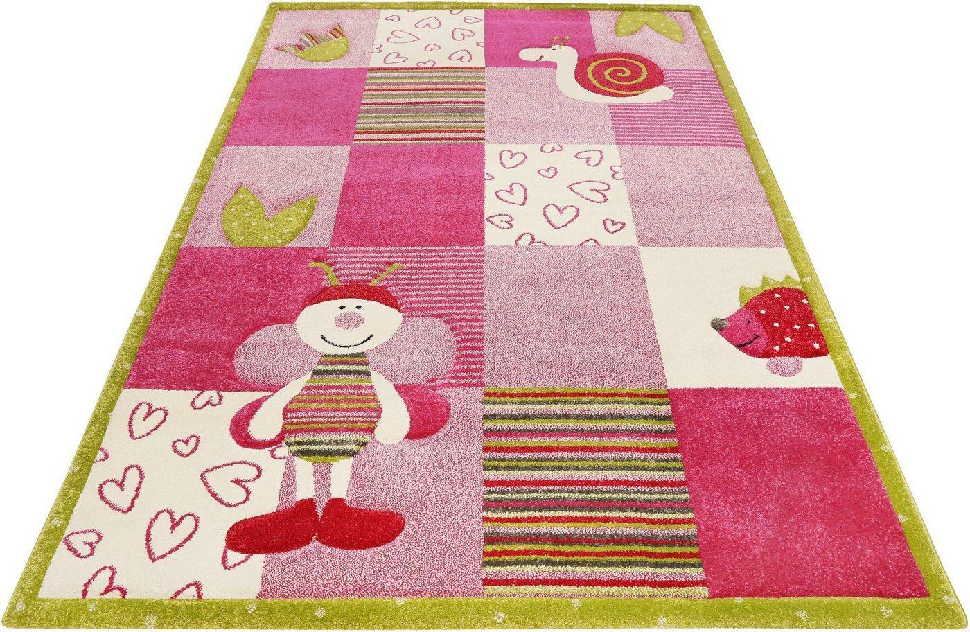 Kinderteppich »Kids Bee 2.0«, Esprit, rechteckig, Höhe 13 mm, Kinder Motiv Teppich, rosa