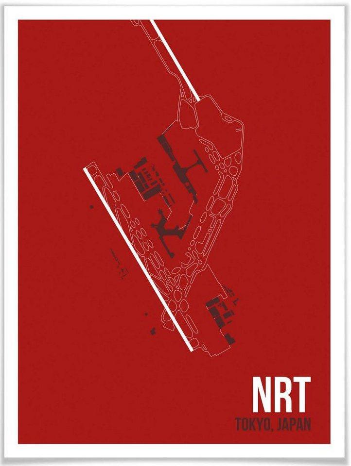 Wall-Art Poster »Wandbild NRT Grundriss Tokyo«, Grundriss (1 Stück), Poster, Wandbild, Bild, Wandposter