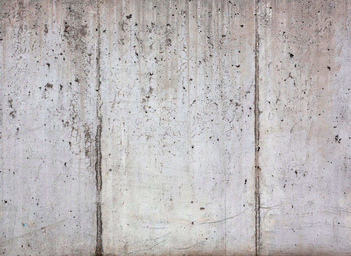 living walls Fototapete »Beton«, glatt, (1 St), 350 x 255 cm