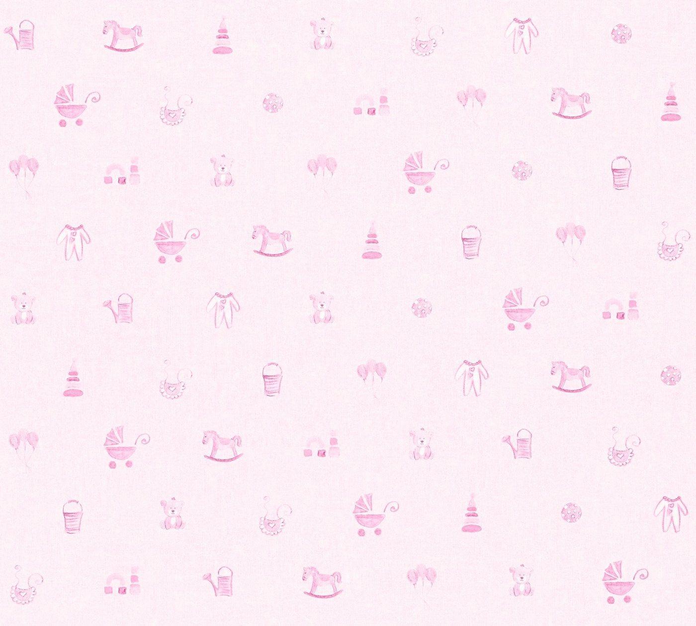 living walls Vliestapete »Little Stars«, glatt, Kinderzimmertapete für Babys, PVC-frei, rosa