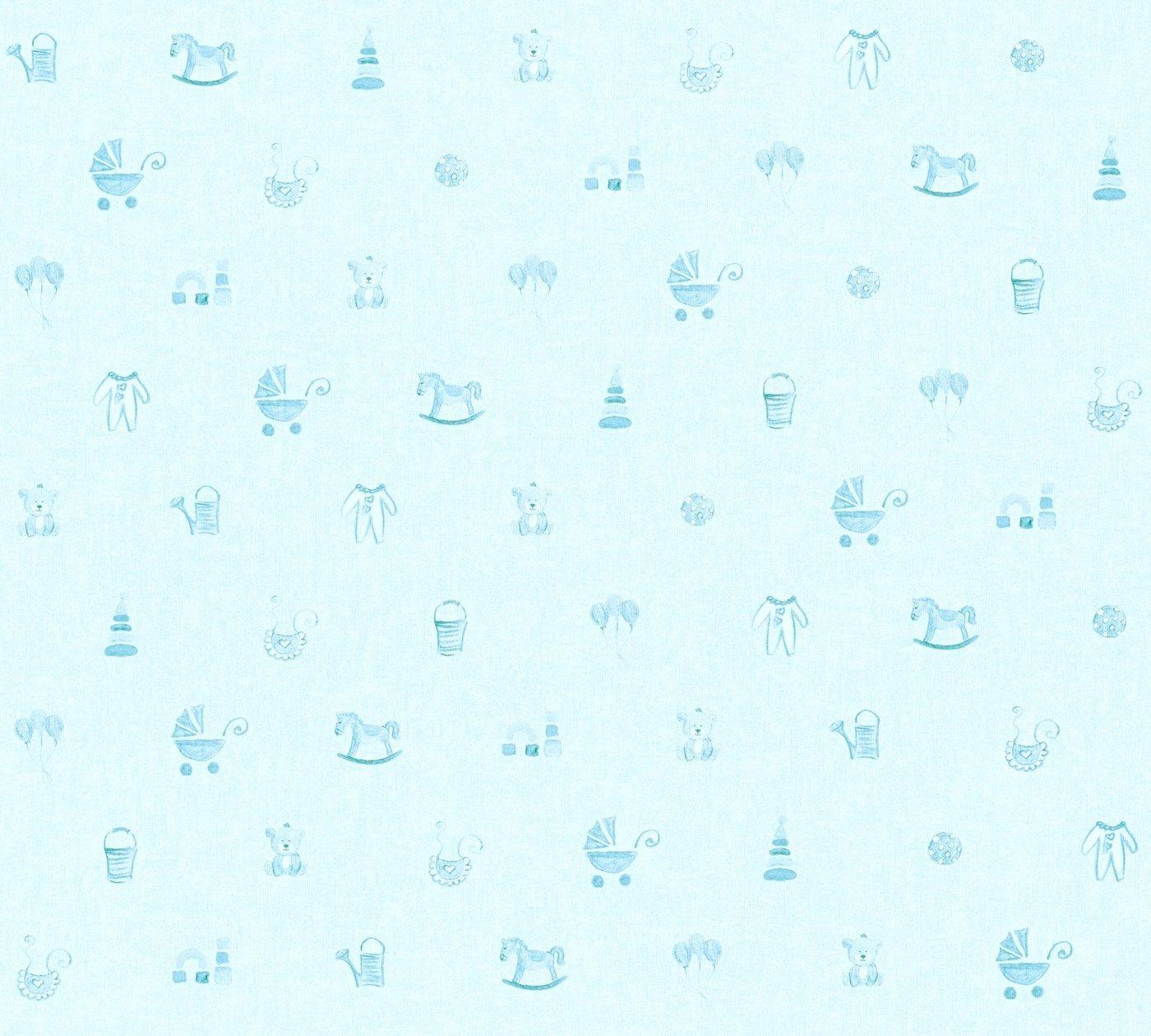 living walls Vliestapete »Little Stars«, glatt, Kinderzimmertapete für Babys, PVC-frei, blau