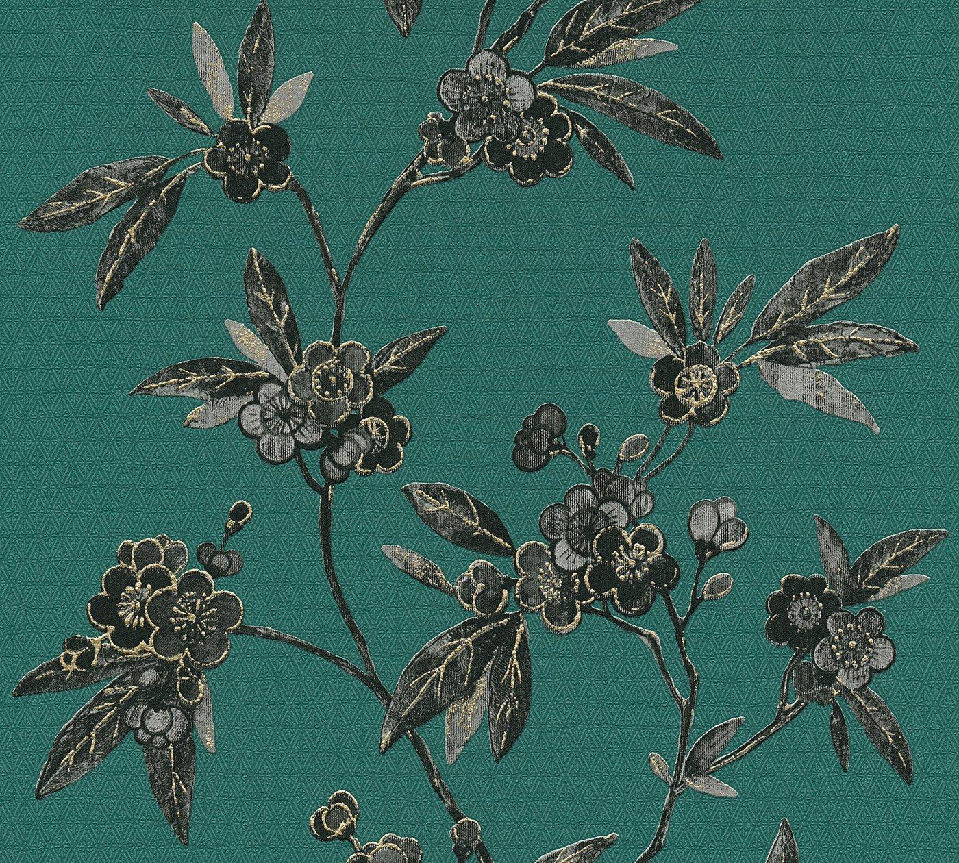 Vliestapete »Asian Fusion«, aufgeschäumt, floral, asiatisch, grün