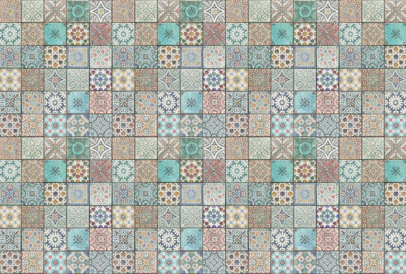 Architects Paper Fototapete »Tiles Oriental«, (Set, 4 St), mediterrane Fliesen, Vlies, glatt