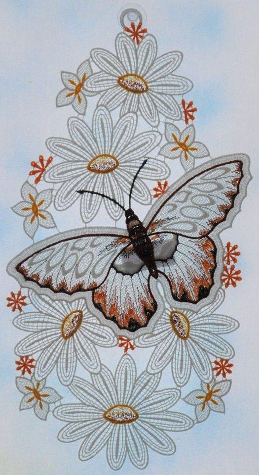 Stickereien Plauen Fensterbild »Schmetterling«