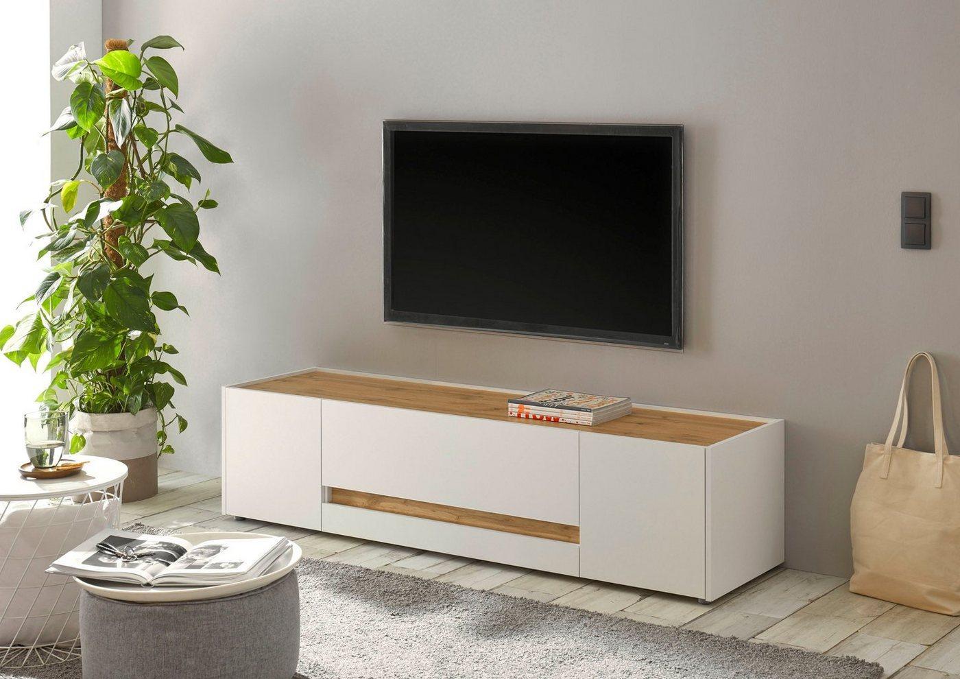 INOSIGN Lowboard »CiTY Lowboard 31«, im modernen Design, weiß