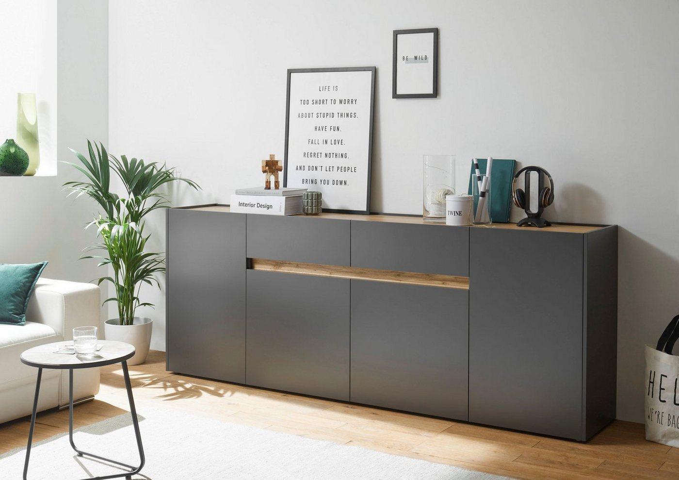 INOSIGN Sideboard »CiTY Sideboard 52«, im modernen Design, grau