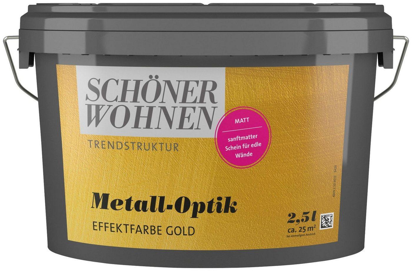 SCHÖNER WOHNEN-Kollektion Wandfarbe »Metall-Optik Effektfarbe gold«, 2,5 l
