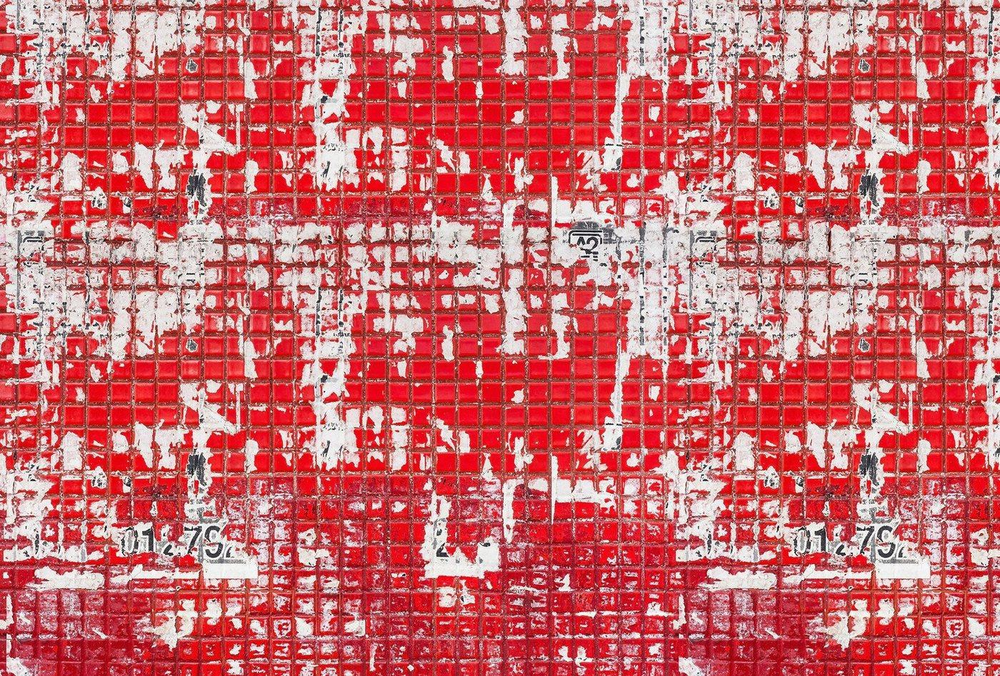 Architects Paper Fototapete »Old Tiles Red«, (Set, 4 St), Fliesen in Vintage Optik, Vlies, glatt
