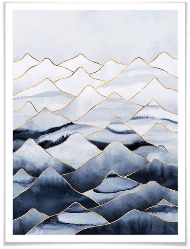 Wall-Art Poster »Die Berge«, Berge (1 Stück)
