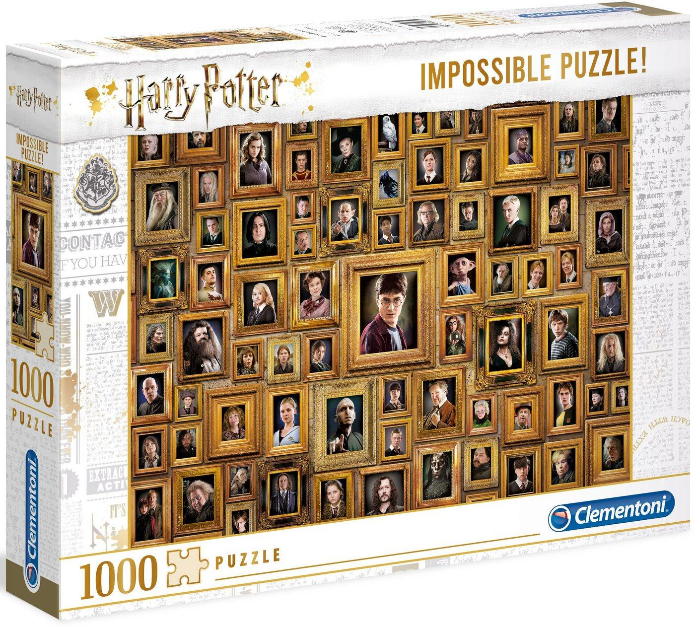 Clementoni® Puzzle »Impossible Collection - Harry Potter«, 1000 Puzzleteile, Made in Europe