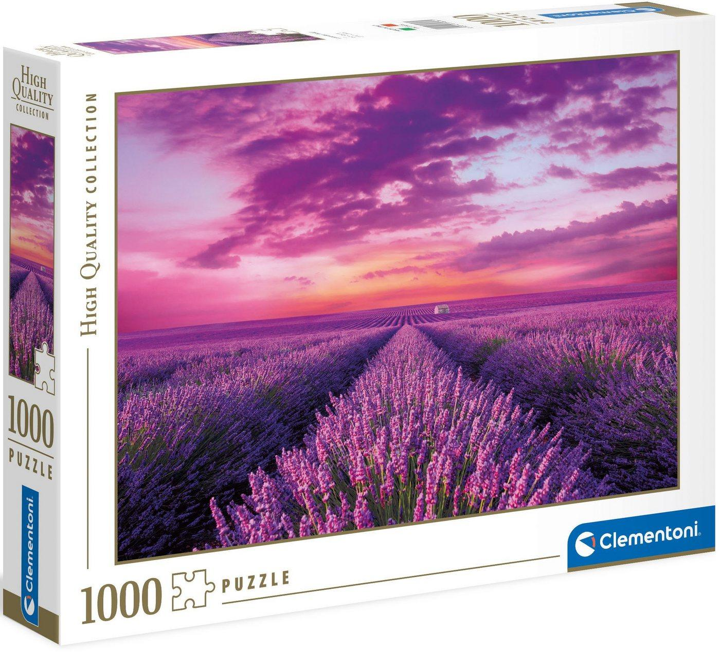 Clementoni® Puzzle »High Quality Collection - Lavendel-Feld«, 1000 Puzzleteile, Made in Europe, FSC® - schützt Wald - weltweit