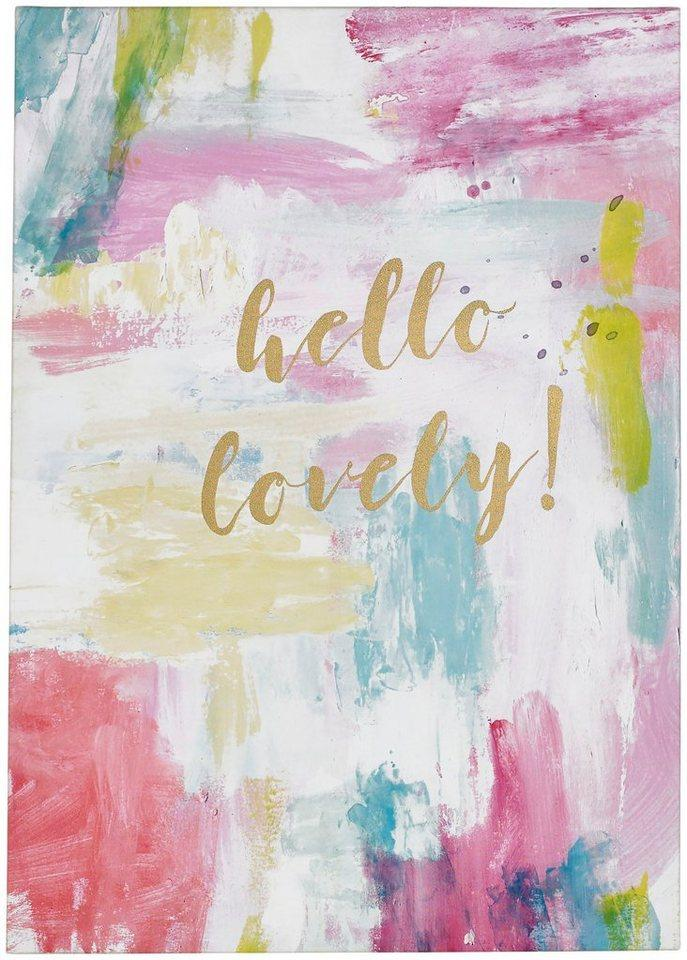 Art for the home Leinwandbild »Hello Lovely«, Sprüche, mit Glitzer