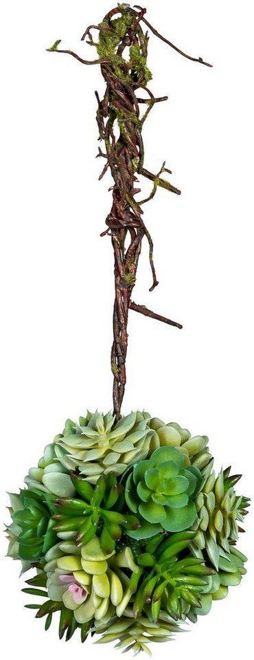Kunstpflanze »Sukkulentenkugel mit Hänger« Sukkulente, Creativ green, Höhe 35 cm