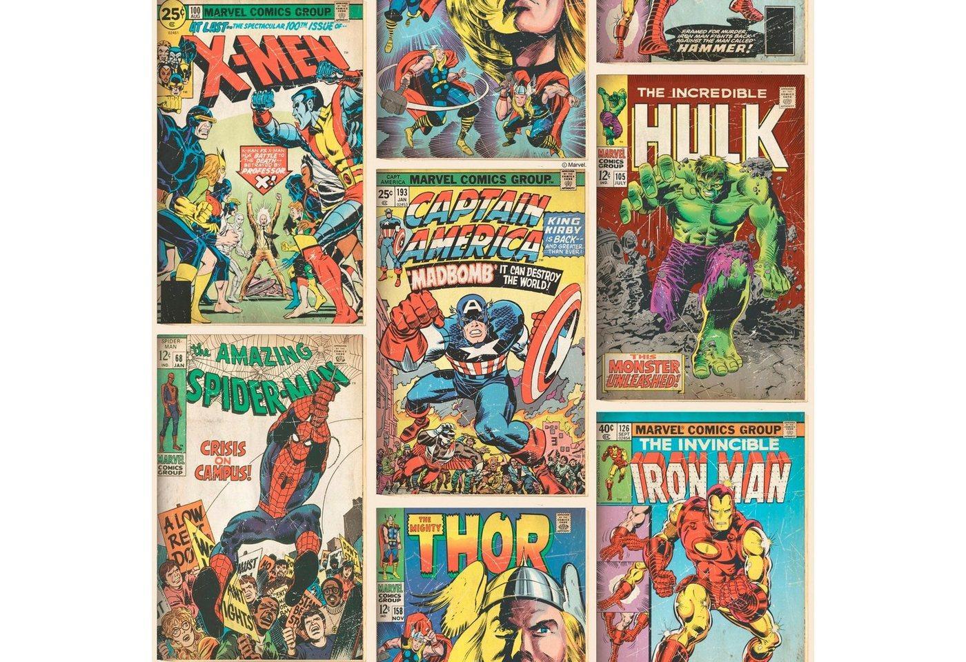Papiertapete »Marvel Action Heroes«