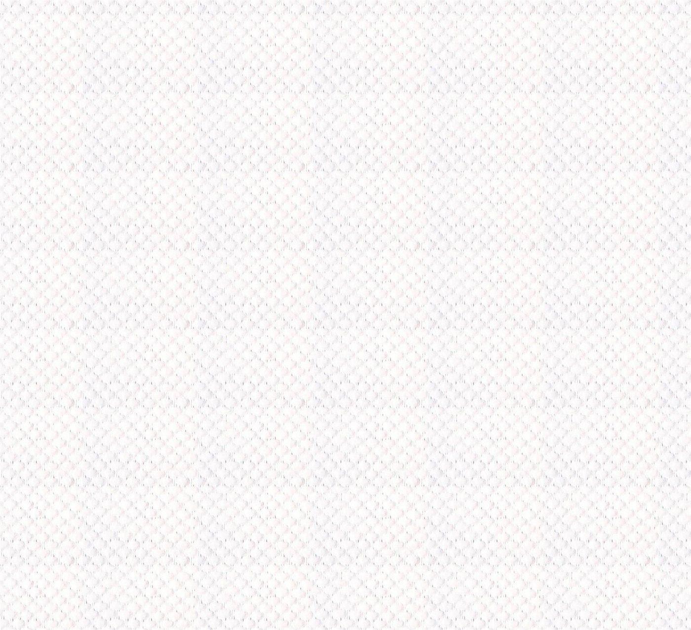 WOW Papiertapete »Gewebe Emboss«, (1 St), Weiß - 10m x 52cm
