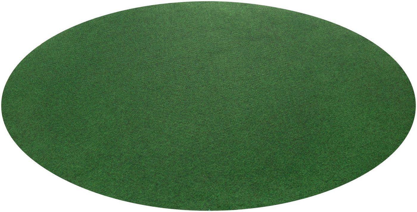 Rasenteppich »Kunstrasen Field«, Andiamo, rund, Höhe 4 mm