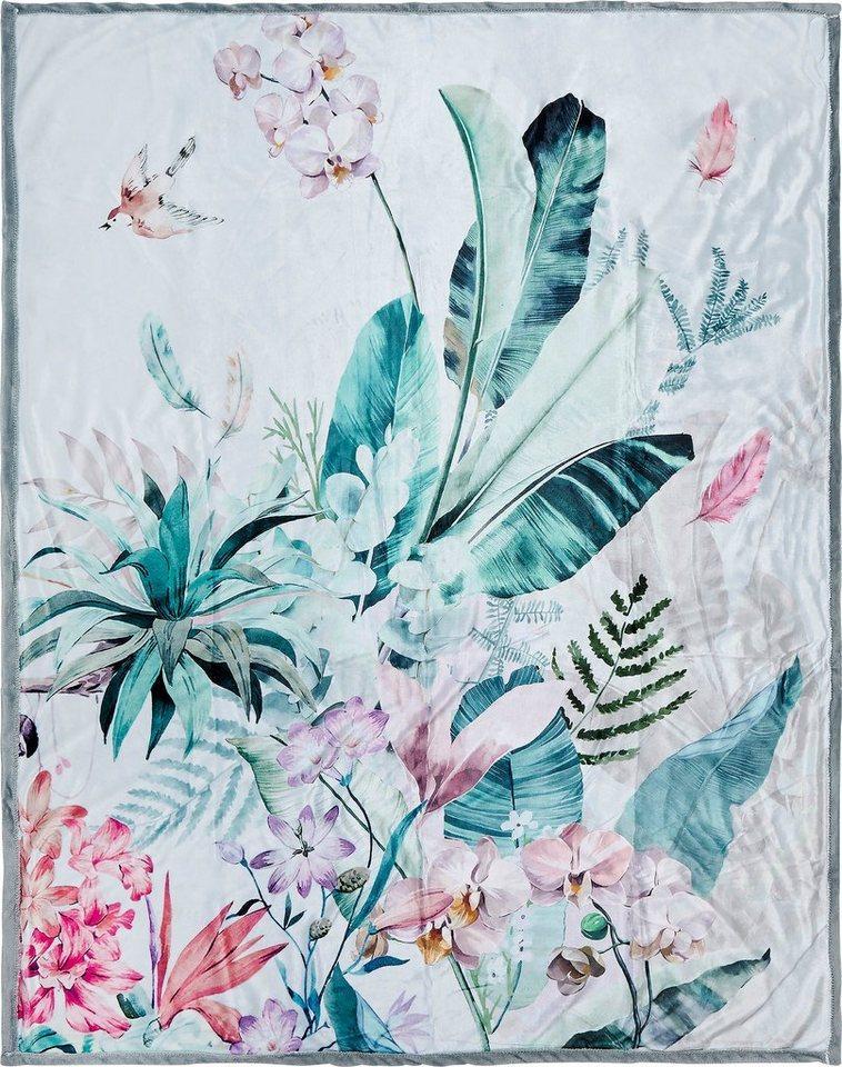 Plaid »Verdi«, Descanso, mit Blüten