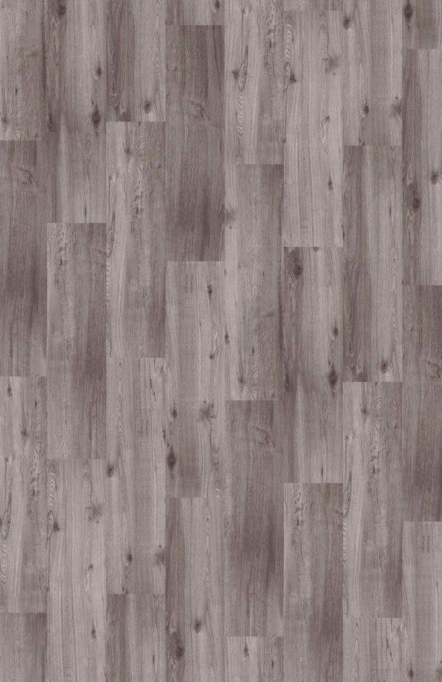 Teppichfliese »Velour Holzoptik Eiche grau«, Infloor, rechteckig, Höhe 4 mm, Teppichfliese in Holzoptik