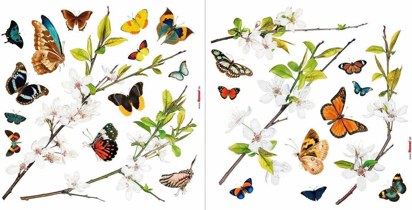 Komar Fensterbild »Schmetterlinge«, 31 x 31 cm, selbsthaftend