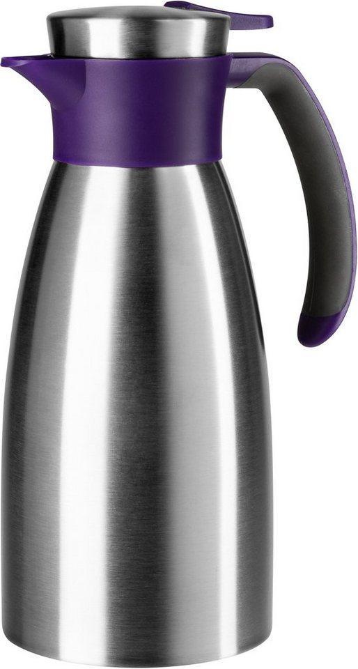 Emsa Isolierkanne »Soft Grip«, 1 l, 1,5 Liter, auslaufsicher, lila