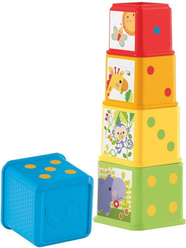 Fisher-Price® Stapelspielzeug »Entdecker- und Stapelwürfel«, (5-tlg)