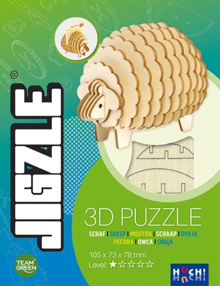 Huch! 3D-Puzzle »JIGZLE - Schaf«, 22 Puzzleteile, FSC®-Holz aus gewissenhaft bewirtschafteten Wäldern