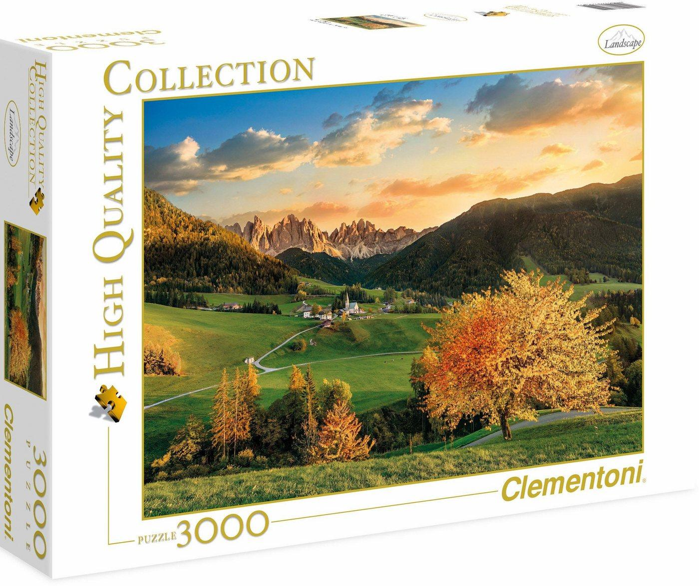 Clementoni® Puzzle »High Quality Collection - Die Alpen«, 3000 Puzzleteile, Made in Europe