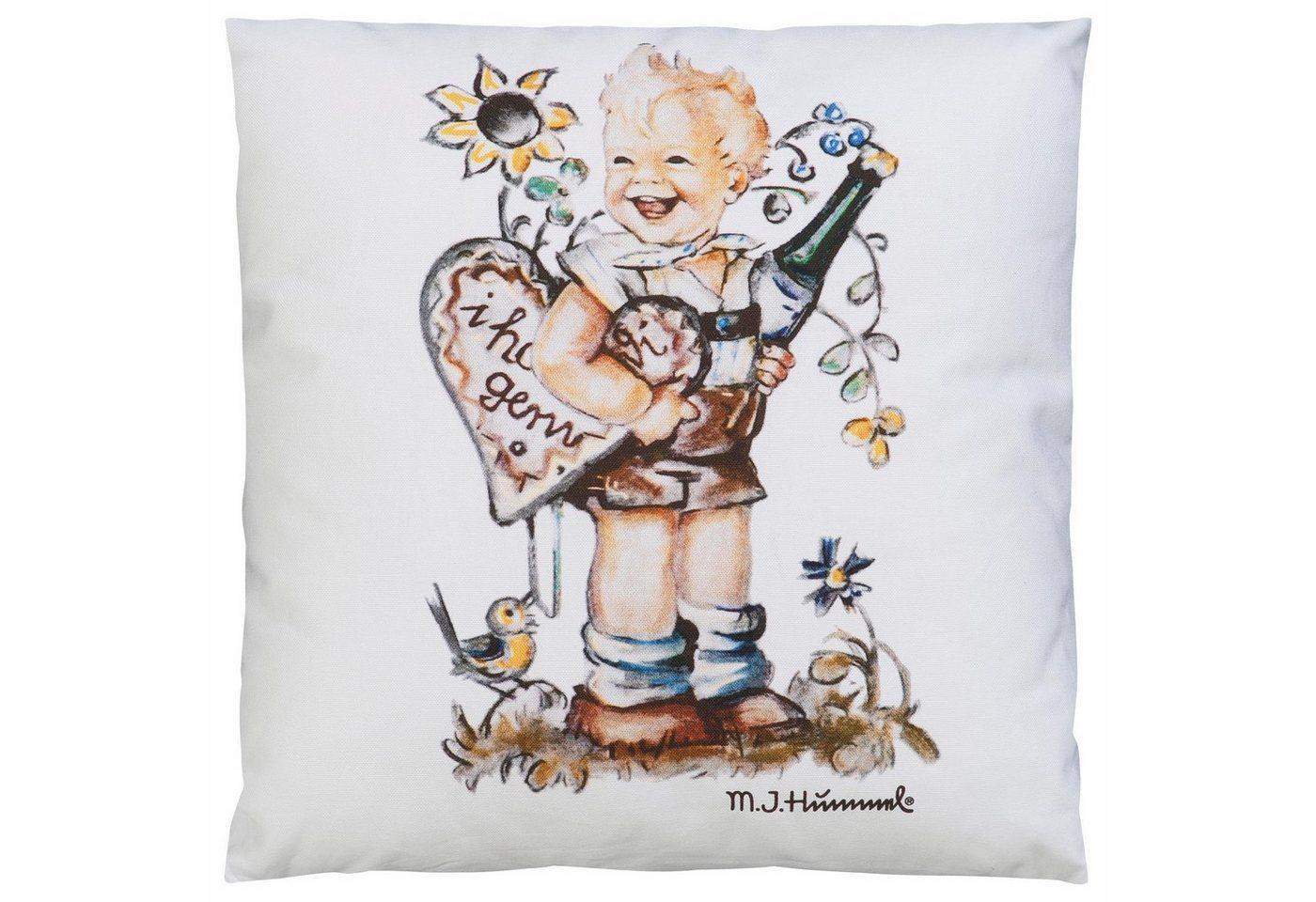 Kissenbezug »I hab di gern - Junge«, M.I. Hummel (1 Stück), mit Hummel Figur