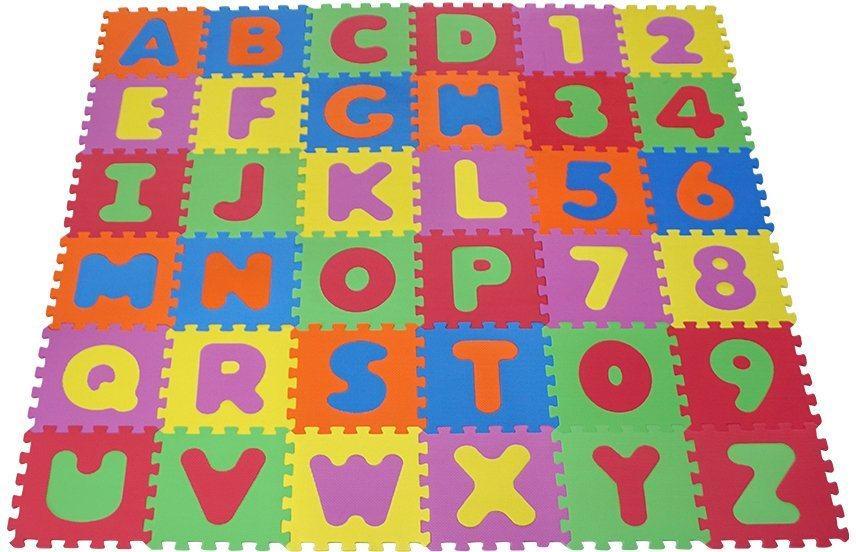 Knorrtoys® Puzzle »Alphabet und Zahlen«, 36 Puzzleteile, Puzzlematte, Bodenpuzzle