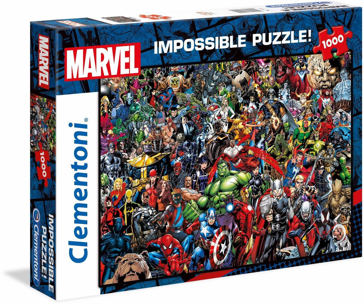 Clementoni® Puzzle »Impossible Collection -Marvel«, 1000 Puzzleteile, Made in Europe