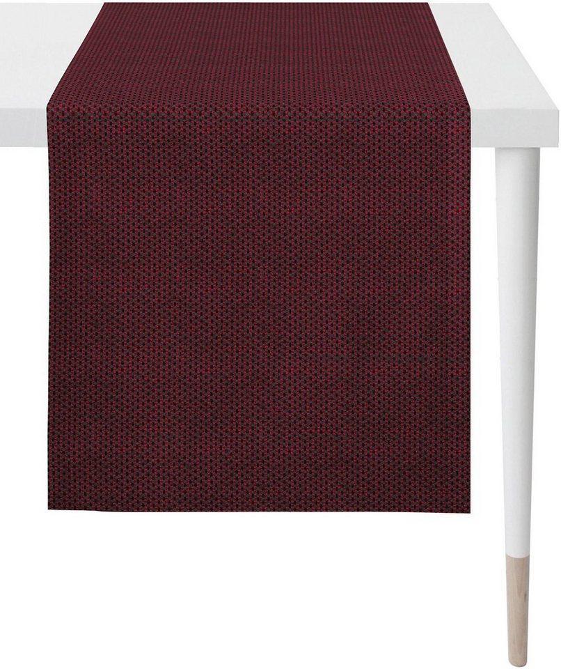 APELT Tischläufer »1104 Loft Style, Jacquard« (1-tlg), rot