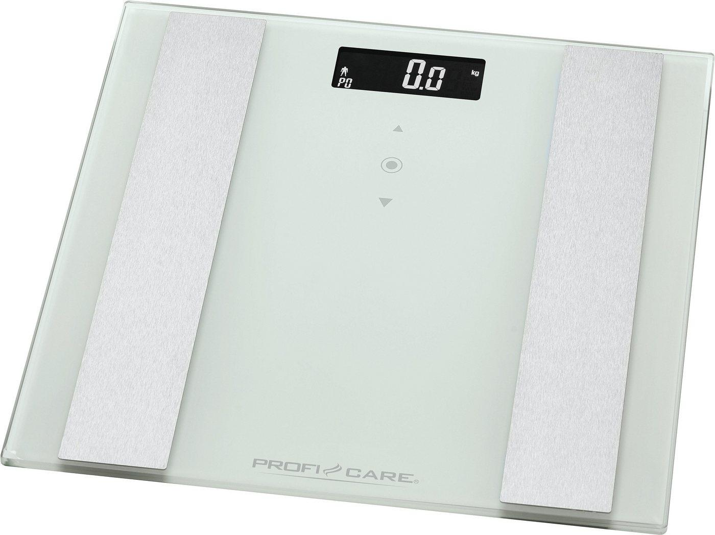 ProfiCare Körper-Analyse-Waage »PC-PW 3007 FA«, 8 in 1 Glas-Analyse-Waage in 2 Farben, weiß