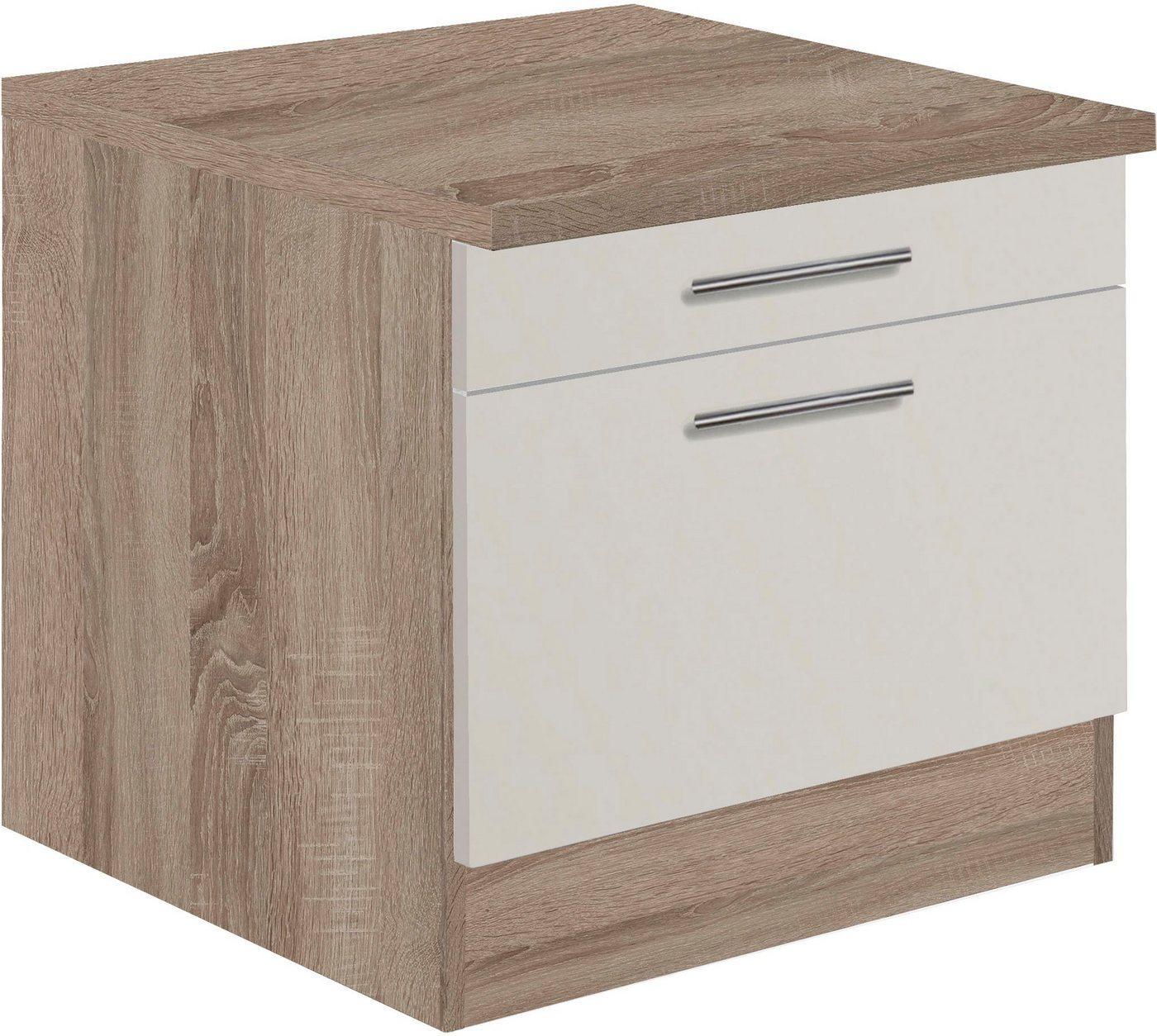 OPTIFIT Unterschrank »Elm« für Waschmaschine oder Trockner, Breite 60 cm, braun