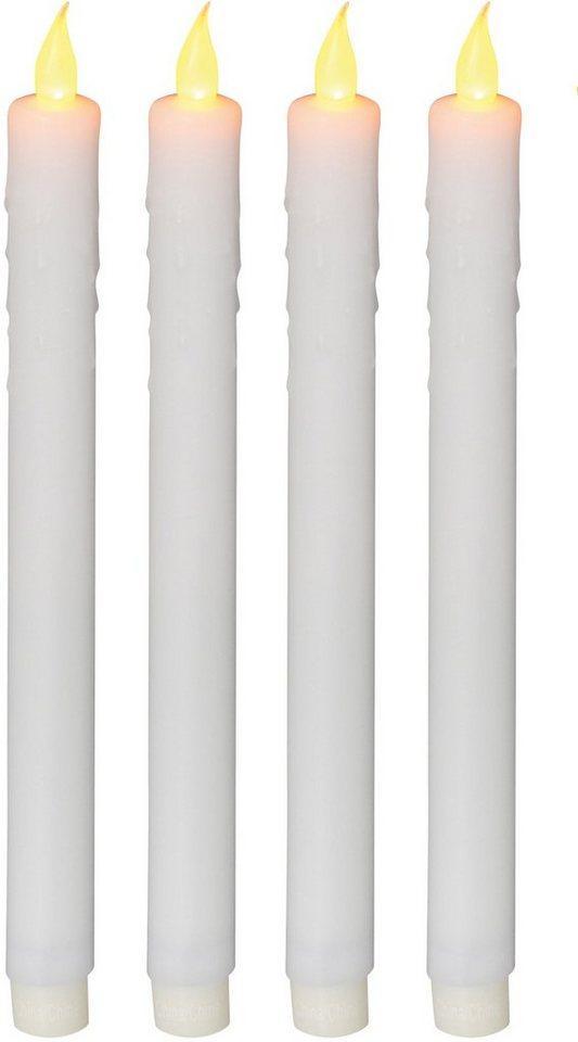 näve LED-Kerze (Set, 4-tlg), Stabkerze
