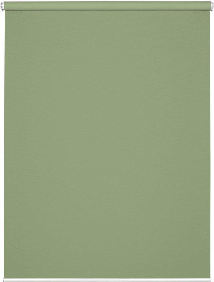 Seitenzugrollo »Comfort Move Rollo«, GARDINIA, Lichtschutz, ohne Bohren, freihängend, ohne Bedienkette, grün