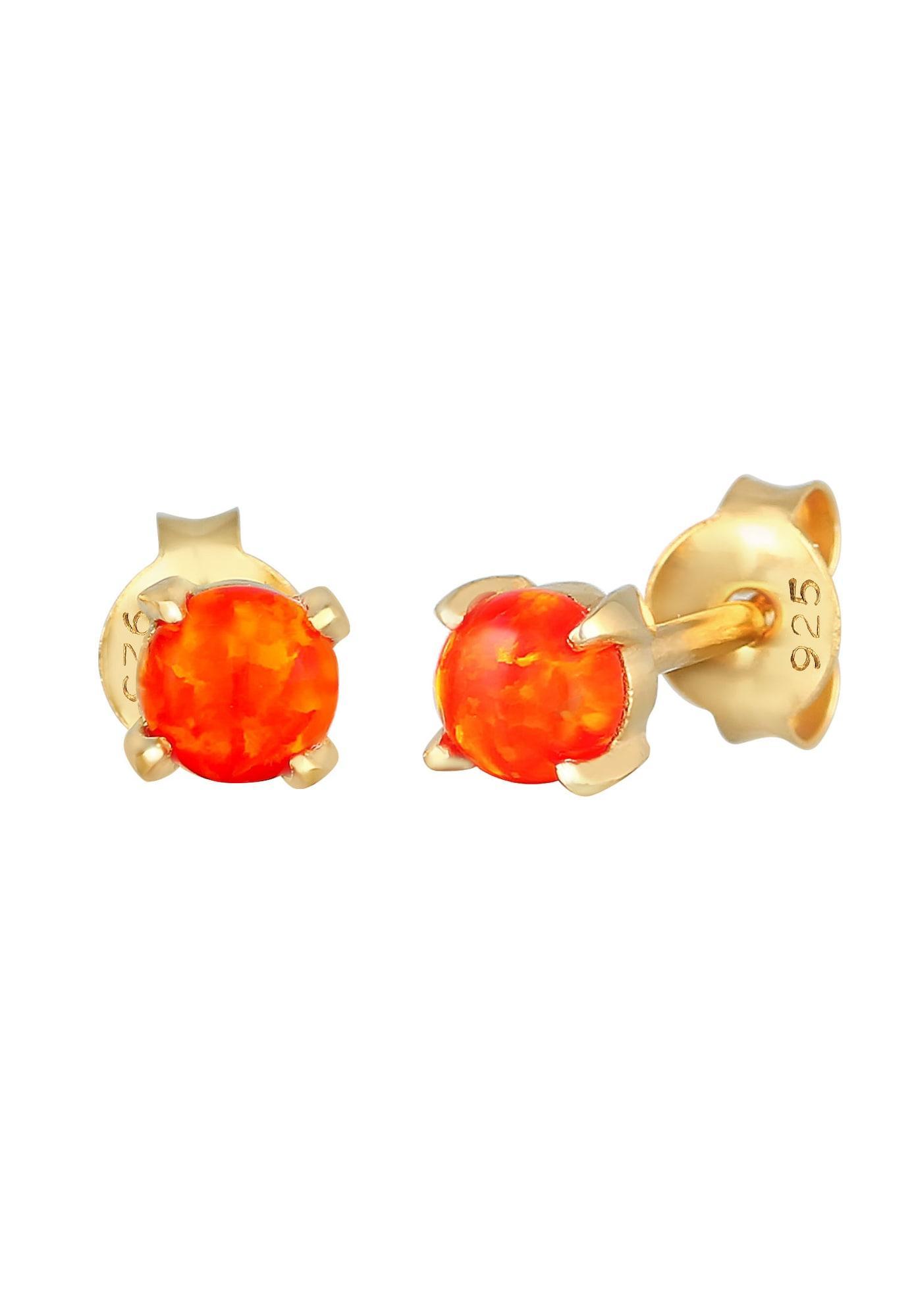 ELLI Ohrringe Opal feuerrot / gold
