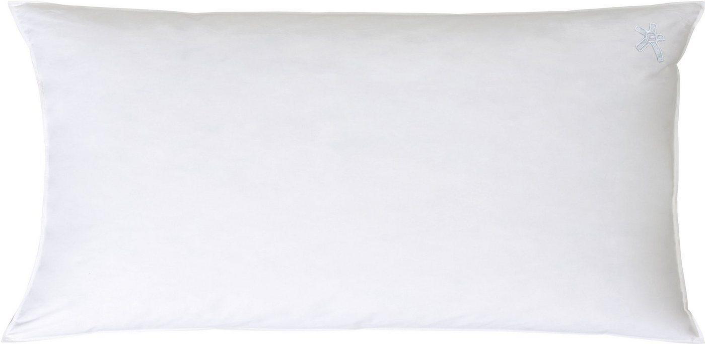 3-Kammer-Kopfkissen, »Kopfkissen Classic / Dreikammer-Kopfkissen soft«, Centa-Star, Füllung: Außenkammern mit 90% Daunen, 10% Federn, (1-tlg)