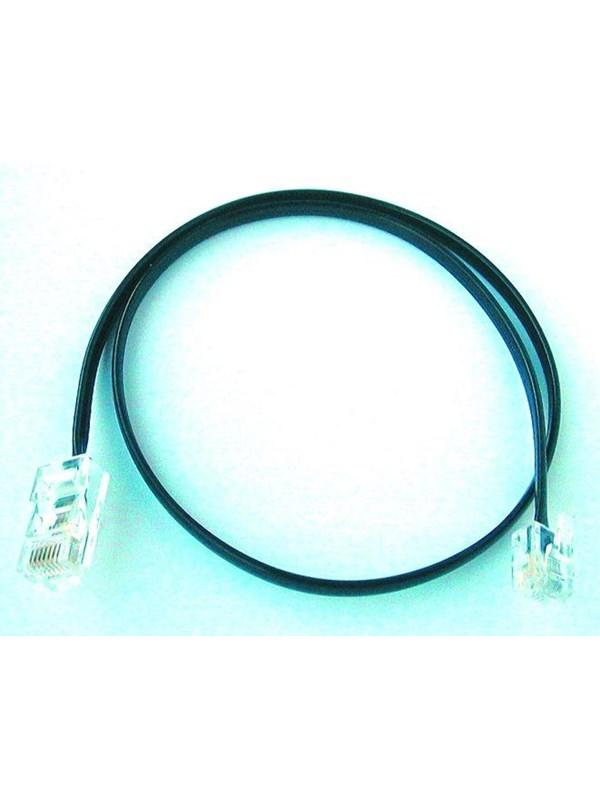 VMC Telepatchkabel sort RJ11-RJ11 5m