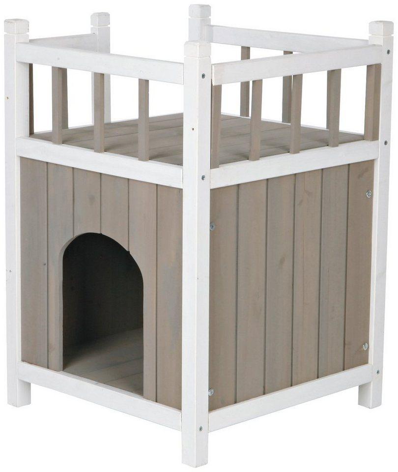 TRIXIE Tierhaus »Katzenhaus Cat's Home«, mit Balkon, BxLxH: 45x45x65 cm