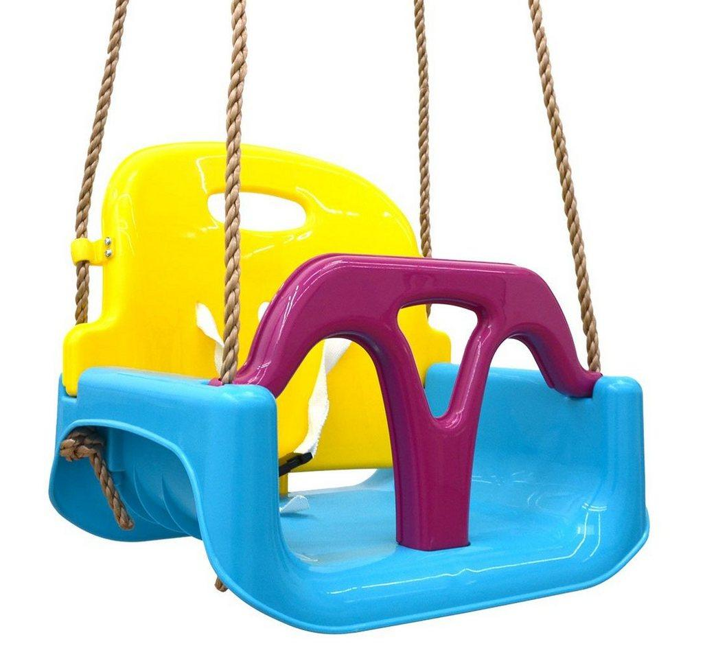 LittleTom Babyschaukel »3-in-1 Kinderschaukel Baby Garten Kinder Indoor«, 40x43x33cm Blau-Gelb