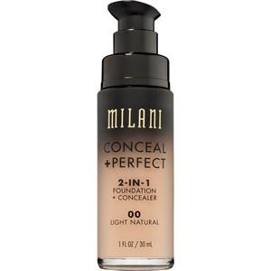 Milani Teint Foundation Conceal & Perfect 2-in-1 Foundation & Concealer Nr.00AA Ivory 30 ml